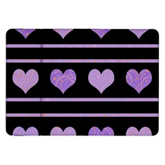 Purple harts pattern Samsung Galaxy Tab 8.9  P7300 Flip Case