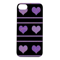 Purple harts pattern Apple iPhone 5S/ SE Hardshell Case