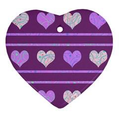 Purple harts pattern 2 Ornament (Heart)