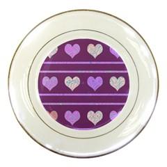 Purple harts pattern 2 Porcelain Plates