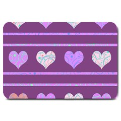 Purple harts pattern 2 Large Doormat