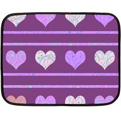 Purple harts pattern 2 Fleece Blanket (Mini)