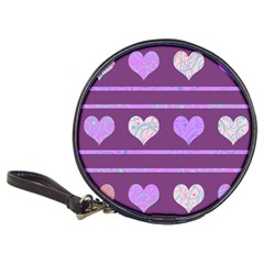 Purple harts pattern 2 Classic 20-CD Wallets