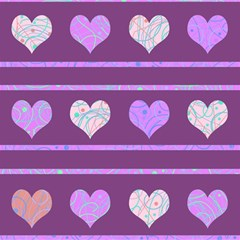 Purple harts pattern 2 Magic Photo Cubes