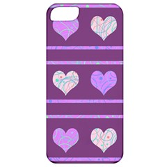 Purple harts pattern 2 Apple iPhone 5 Classic Hardshell Case