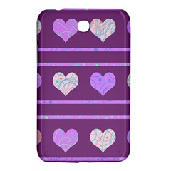Purple harts pattern 2 Samsung Galaxy Tab 3 (7 ) P3200 Hardshell Case