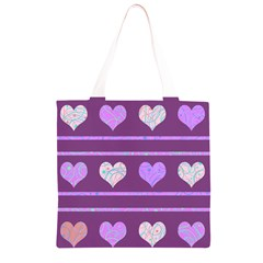 Purple harts pattern 2 Grocery Light Tote Bag