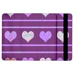 Purple harts pattern 2 iPad Air 2 Flip