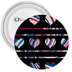 Colorful harts pattern 3  Buttons