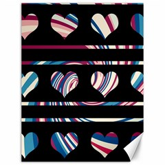 Colorful harts pattern Canvas 12  x 16