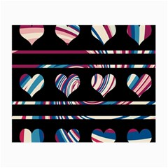 Colorful harts pattern Small Glasses Cloth (2-Side)