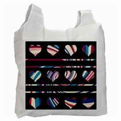 Colorful harts pattern Recycle Bag (Two Side)