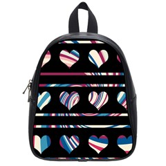 Colorful harts pattern School Bags (Small)