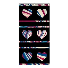 Colorful harts pattern Shower Curtain 36  x 72  (Stall)