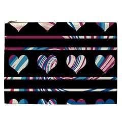 Colorful harts pattern Cosmetic Bag (XXL)