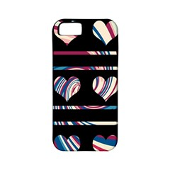 Colorful harts pattern Apple iPhone 5 Classic Hardshell Case (PC+Silicone)