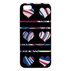Colorful harts pattern Apple iPhone 5 Premium Hardshell Case