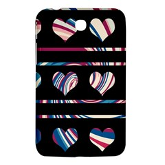 Colorful harts pattern Samsung Galaxy Tab 3 (7 ) P3200 Hardshell Case