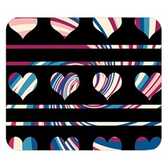 Colorful harts pattern Double Sided Flano Blanket (Small)