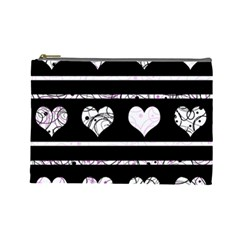 Elegant harts pattern Cosmetic Bag (Large)