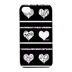 Elegant harts pattern Apple iPhone 4/4S Hardshell Case with Stand