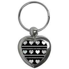 Elegant harts pattern Key Chains (Heart)