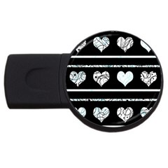 Elegant harts pattern USB Flash Drive Round (4 GB)