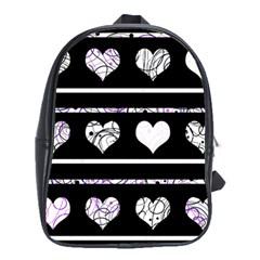 Elegant harts pattern School Bags(Large)