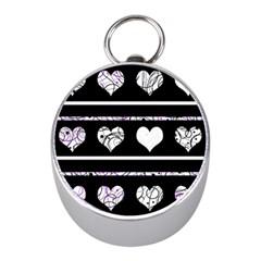 Elegant harts pattern Mini Silver Compasses