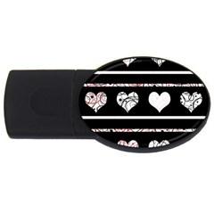 Elegant harts pattern USB Flash Drive Oval (1 GB)