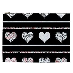 Elegant harts pattern Cosmetic Bag (XXL)