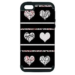 Elegant harts pattern Apple iPhone 5 Hardshell Case (PC+Silicone)