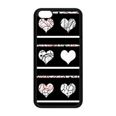 Elegant harts pattern Apple iPhone 5C Seamless Case (Black)