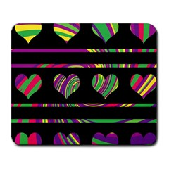 Colorful harts pattern Large Mousepads