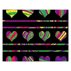Colorful harts pattern Rectangular Jigsaw Puzzl