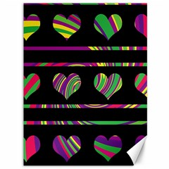 Colorful harts pattern Canvas 36  x 48