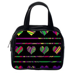 Colorful harts pattern Classic Handbags (One Side)