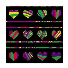 Colorful harts pattern Face Towel