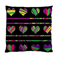 Colorful harts pattern Standard Cushion Case (One Side)