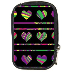 Colorful harts pattern Compact Camera Cases