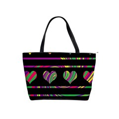 Colorful harts pattern Shoulder Handbags