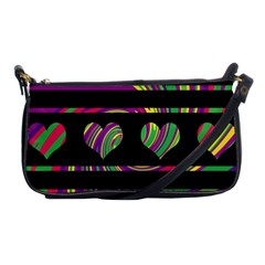 Colorful harts pattern Shoulder Clutch Bags