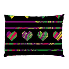 Colorful harts pattern Pillow Case (Two Sides)