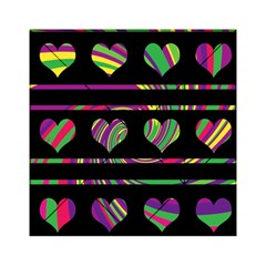 Colorful harts pattern Acrylic Tangram Puzzle (6  x 6 )