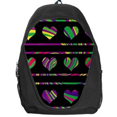 Colorful harts pattern Backpack Bag