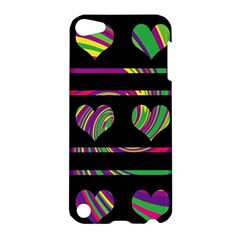 Colorful harts pattern Apple iPod Touch 5 Hardshell Case