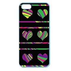 Colorful harts pattern Apple Seamless iPhone 5 Case (Color)