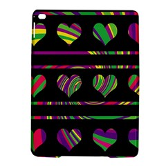 Colorful harts pattern iPad Air 2 Hardshell Cases