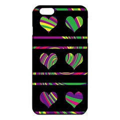 Colorful harts pattern iPhone 6 Plus/6S Plus TPU Case