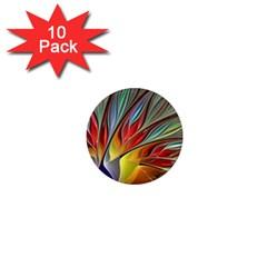Fractal Bird of Paradise 1  Mini Magnet (10 pack)